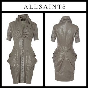 All Saints Clear Elma Rouched Dress